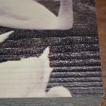 Het effect van vurenhout en larikshout op een foto
