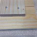 Foto op hout bevestiging