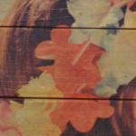 Foto op steigerhout kleuren