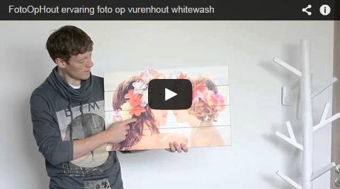Foto op vurenhout whitewash review FotoOpHout.nl
