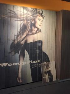 Woodprint fotomuur