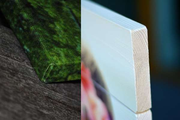 Foto op canvas of hout – wat is het verschil?