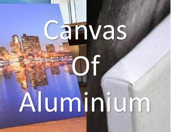 Foto op canvas of aluminium, wat is het verschil?