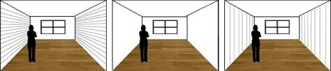 Effect lijnen in foto op kamer