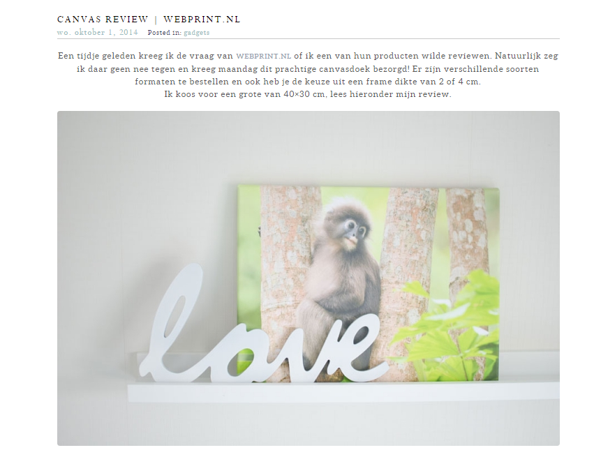 Canvas review Webprint FRN fotografie