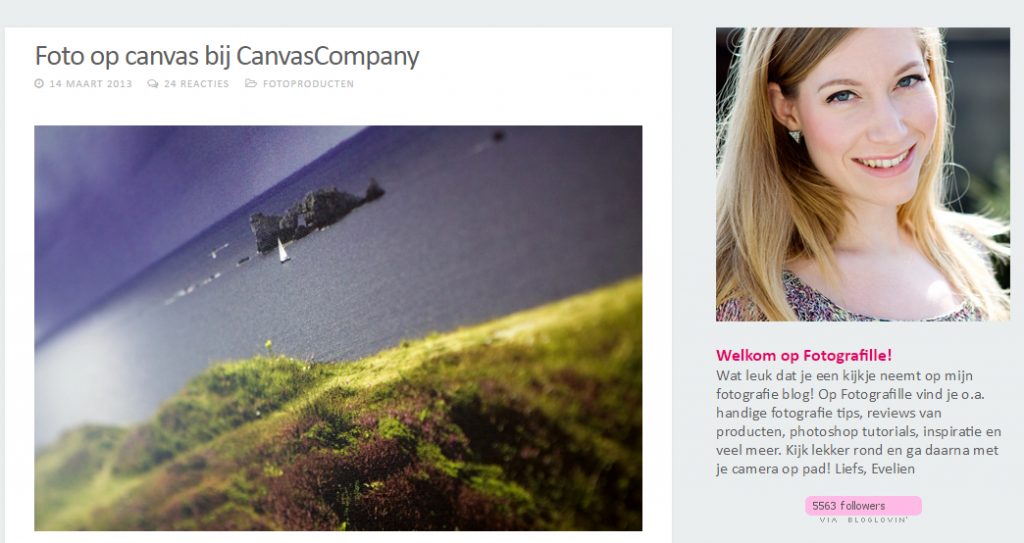 Fotografille review CanvasCompany