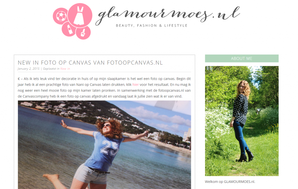 Glamourmoes review FotoOpCanvas.nl