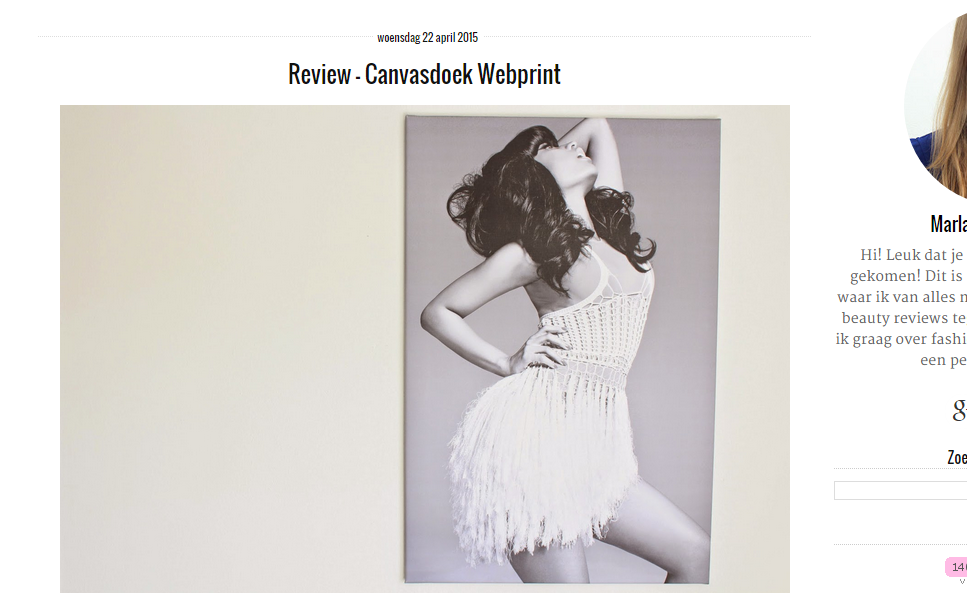 Review Marlayne Canvsdoek Webprint