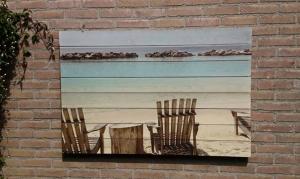Vakantie foto op steigerhout