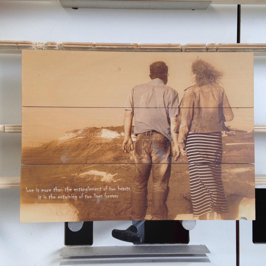Vakantie foto speciaal Woodprint