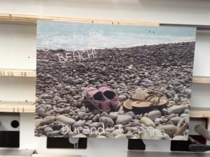 Vakantie foto voetjes zand
