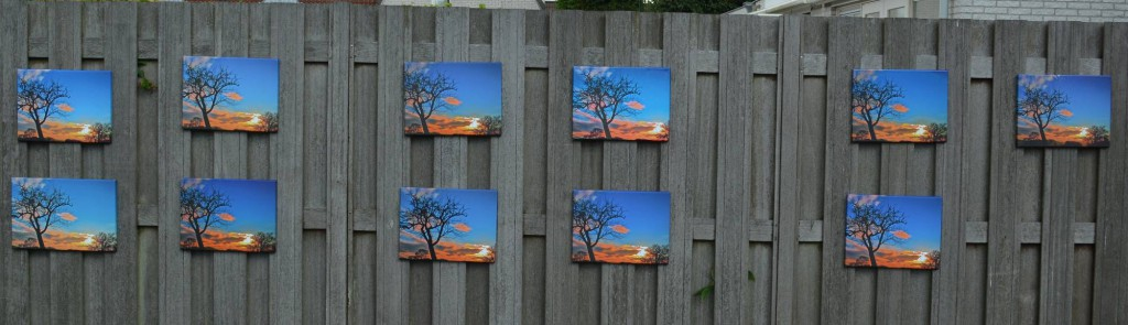 kleurverschillen kwaliteit canvas foto