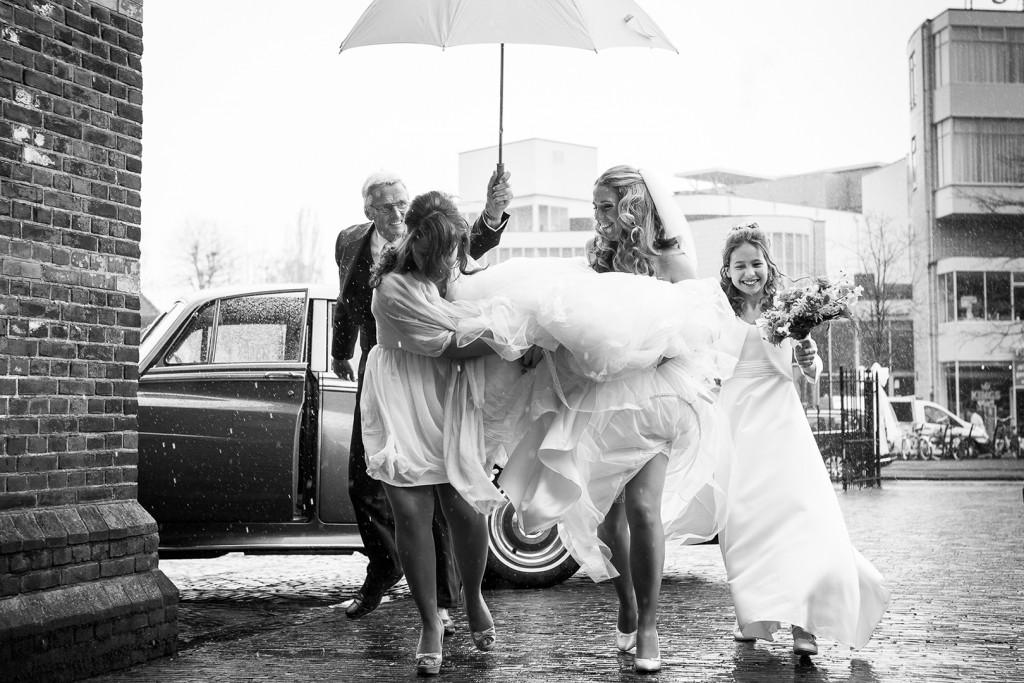 Bruidsfotografie regen
