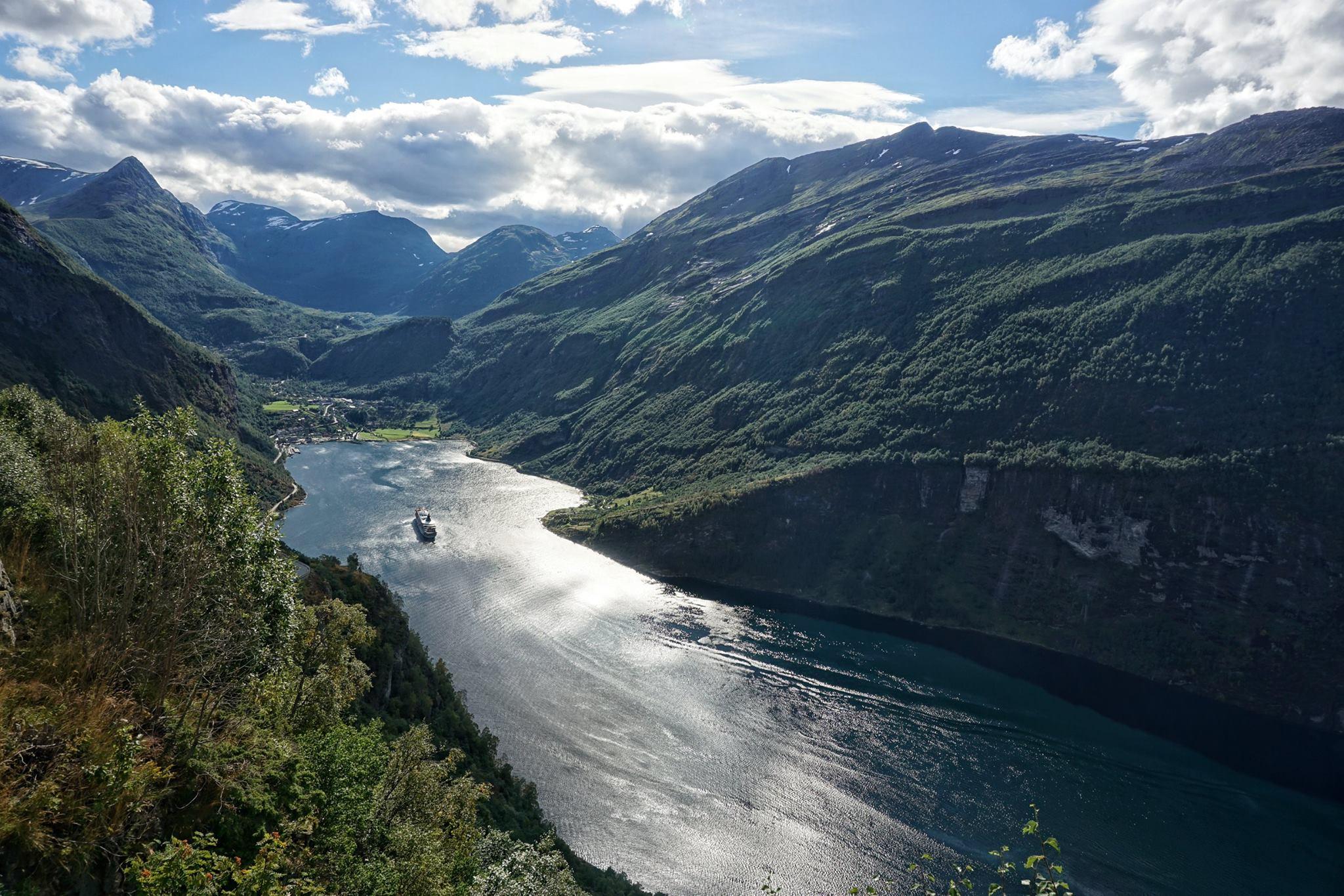geirangerfjord, noorwegen, vakantiefoto, reisbestemming