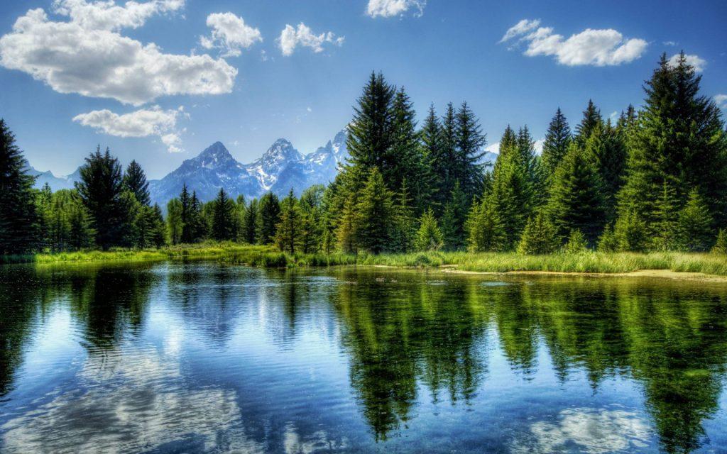 landschap, landschapfoto, foto op glas, natuur
