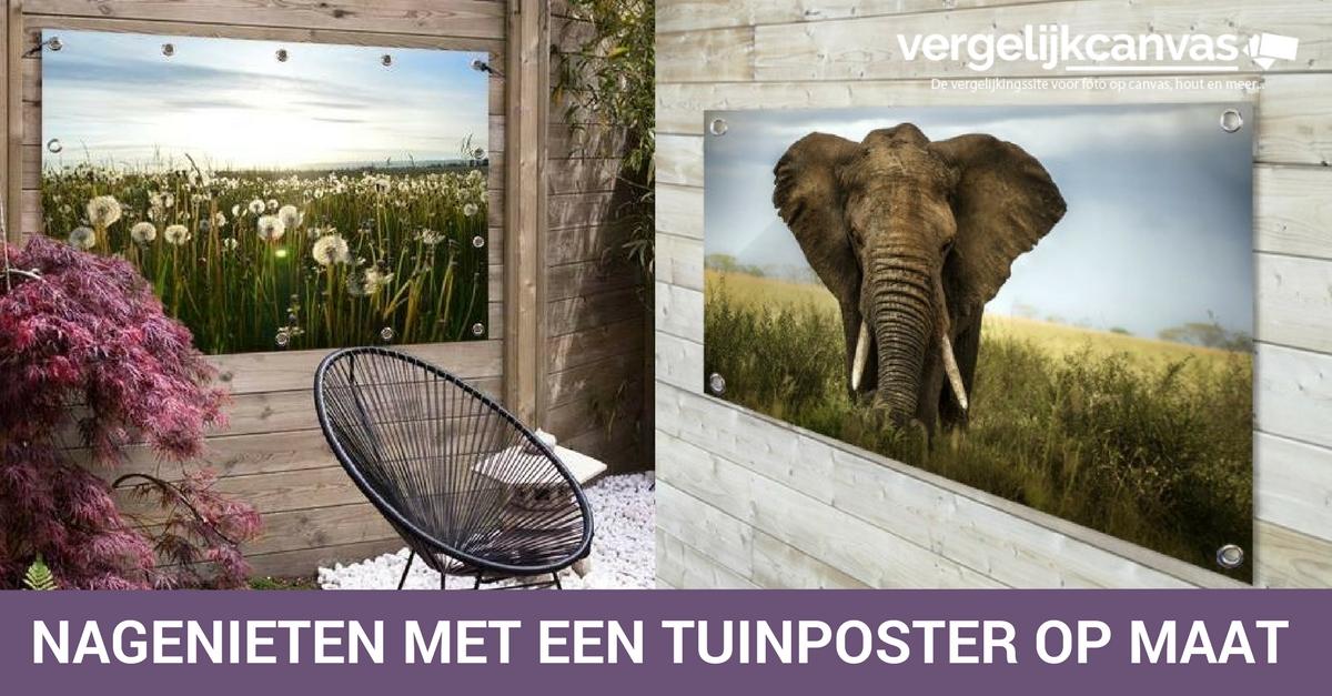 Nagenieten met een tuinposter van TuinposterOpMaat.nl