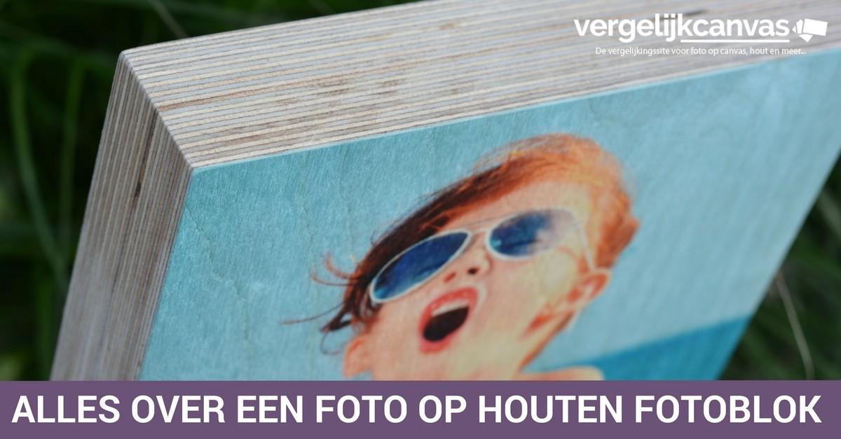Alles over een foto op houten fotoblok