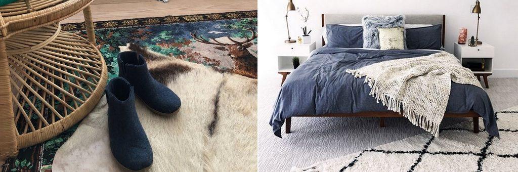 Vloerkleden of vachtjes in de slaapkamer