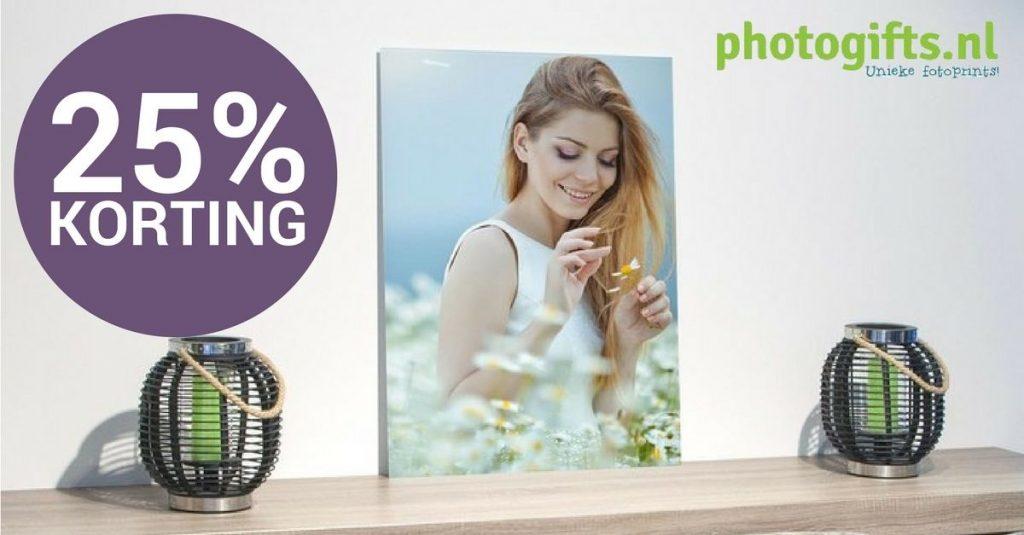 25% kerstkorting bij Photogifts