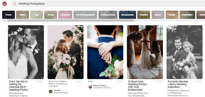 Pinterestbord trouwfotografie inspiratie