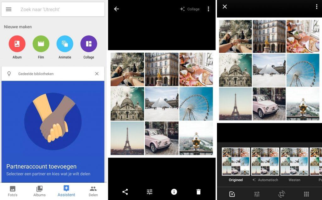 Fotocollage maken Google Foto's