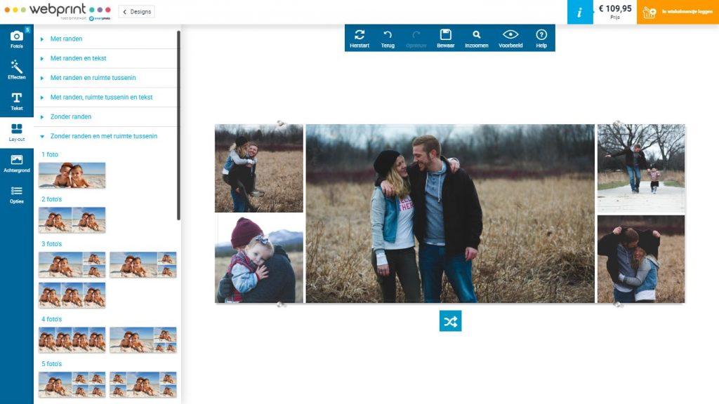 Fotocollage op glas webprint
