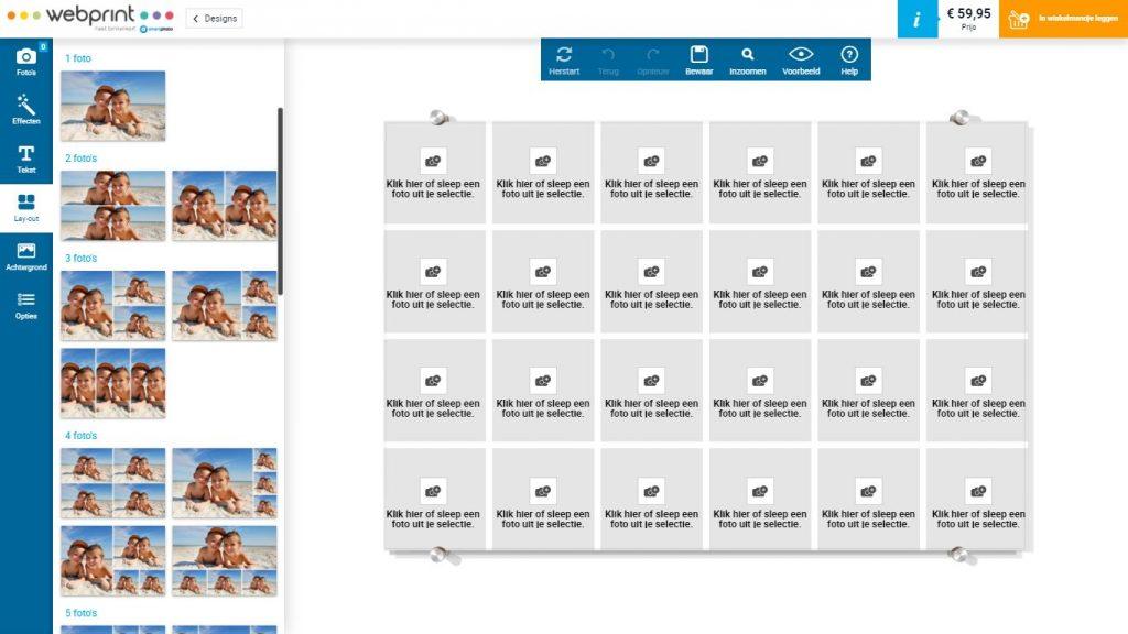 Fotocollage maken Webprint