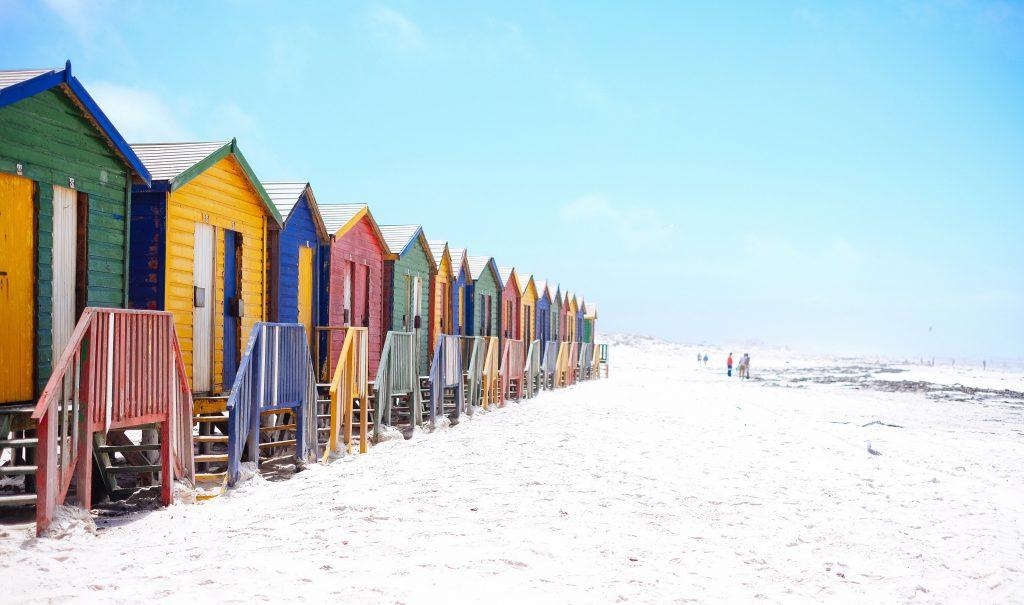 gekleurde strandhuisjes strandfotografie