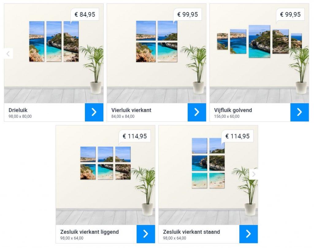Webprint meerluik opties